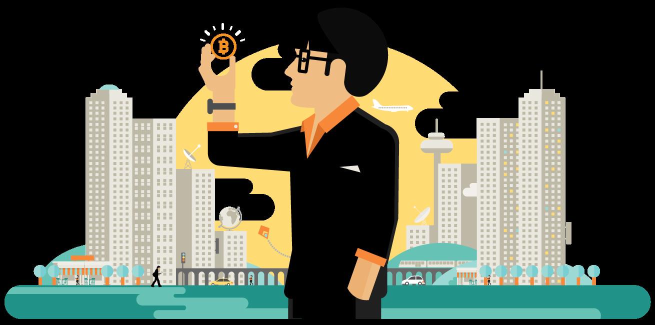 illustrate bitcoin
