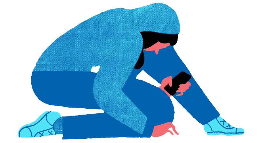 social media 1 Illustratie- Zeloot (voor De Correspondent)