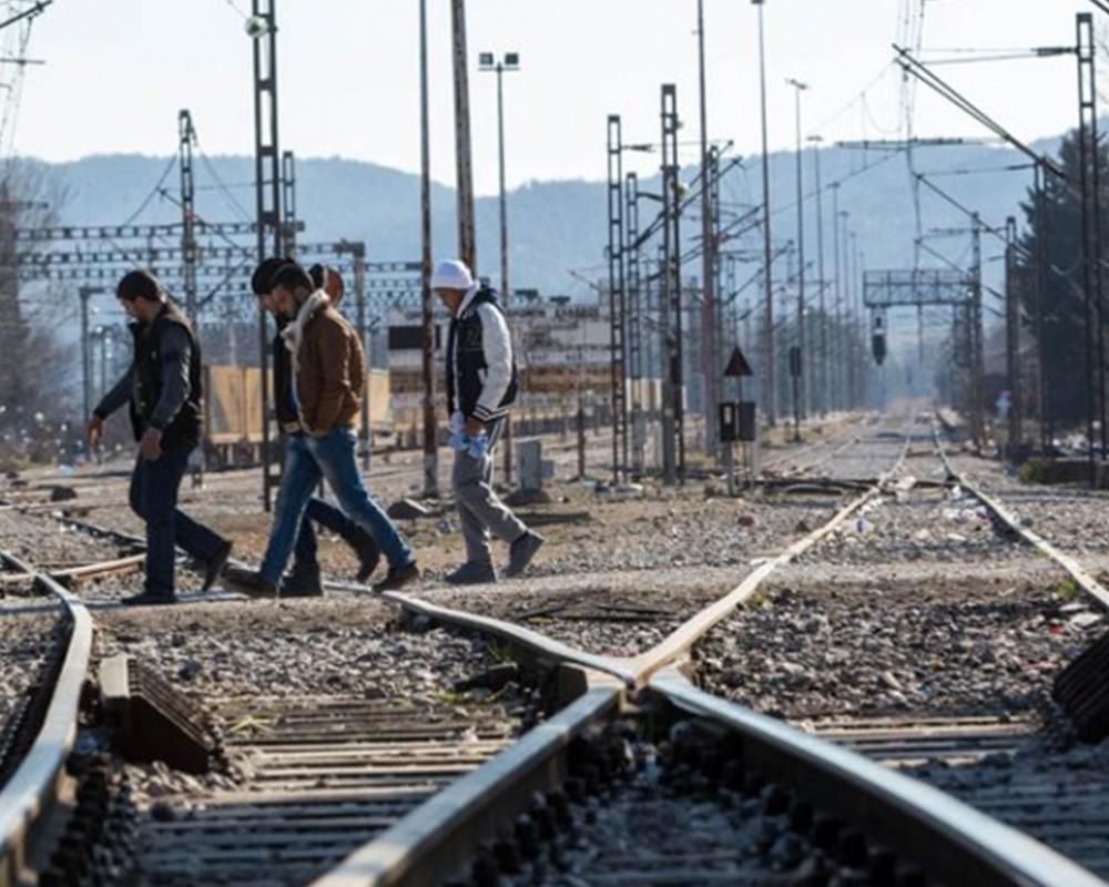 Σιδηροδρομικές γραμμές στην Ειδομένη