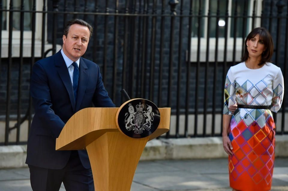 EU referendum result is to leave the EU. Prime Minister David Cameron resigns at 10 Downing Street in London, England on June 24, 2016. Pictured: David Cameron and Samantha Cameron Ref: SPL1306871 240616 Picture by: ADW / Splash News Splash News and Pictures Los Angeles: 310-821-2666 New York: 212-619-2666 London: 870-934-2666 photodesk@splashnews.com