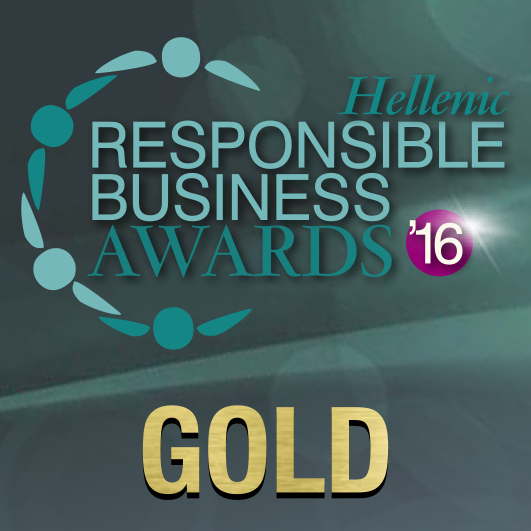 responsible awards stickers GOLD