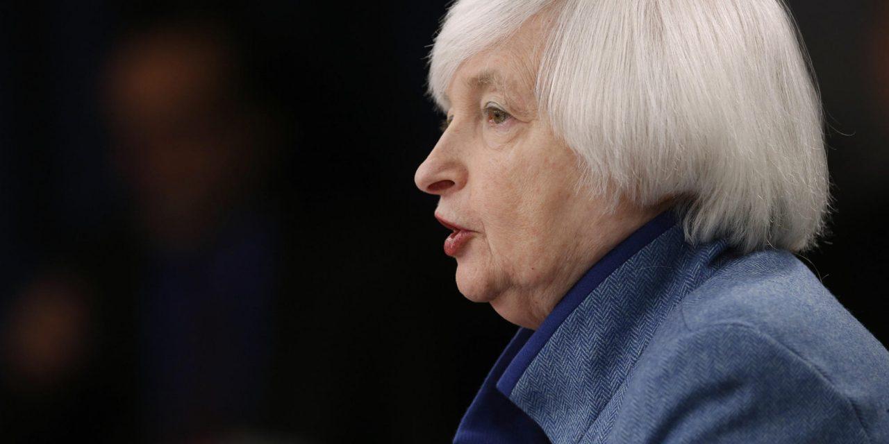 Η πρόεδρος της U.S. Federal Reserve, Janet Yellen