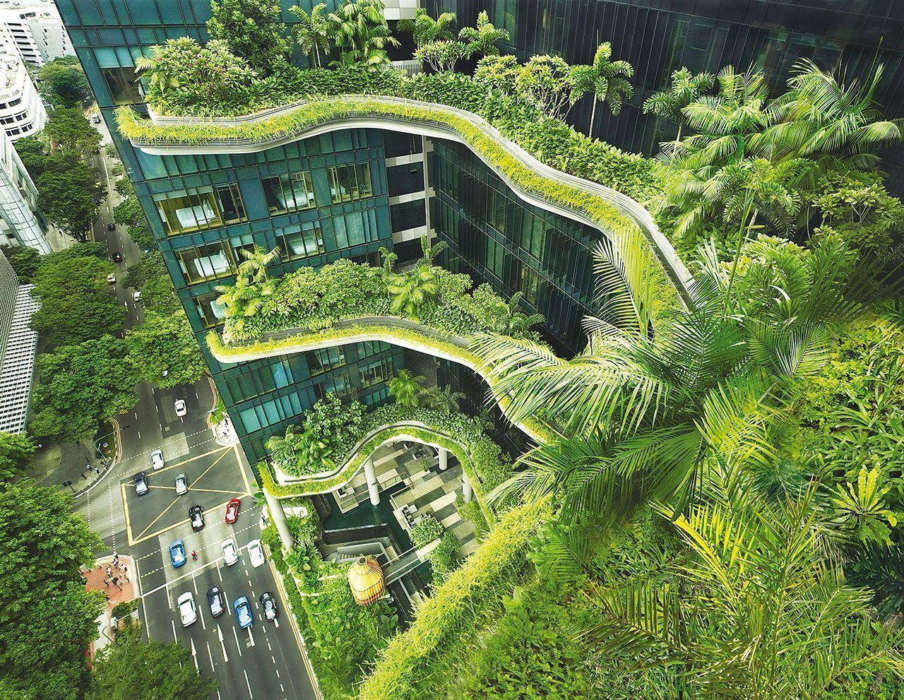 Parkroyal: Ένα φυτεμένο ξενοδοχείο με κήπους, τροπικά δέντρα και στοιχεία νερού