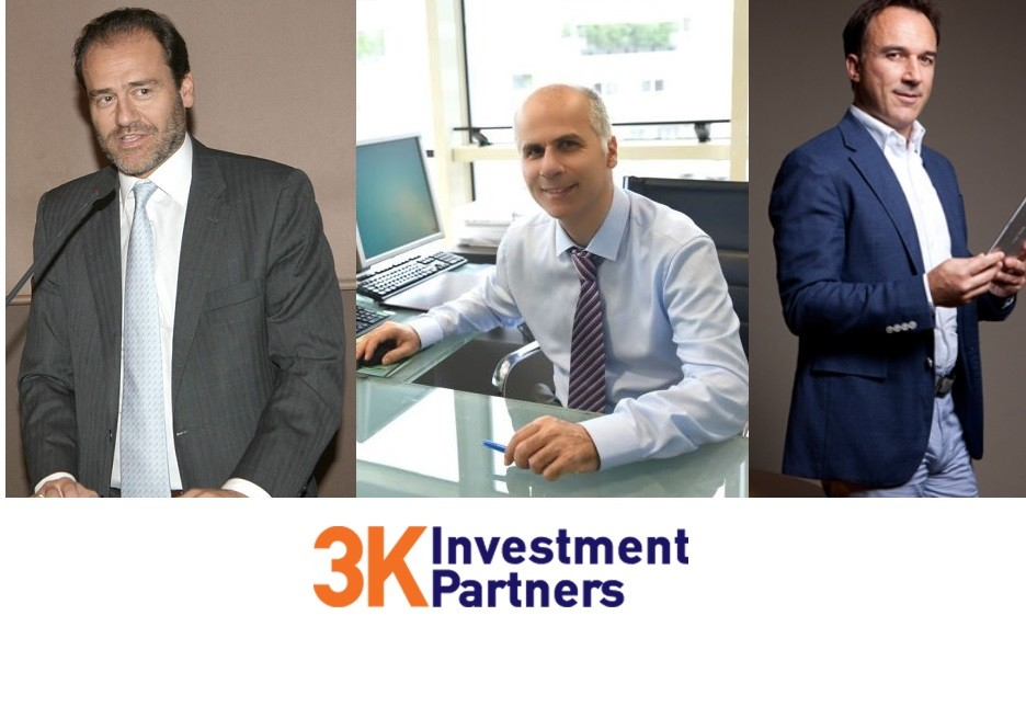 Τάκης Κανελλόπουλος, Γιώργος Κουφόπουλος, Ιωάννης Καματάκης, βασικοί μέτοχοι της 3Κ Investment Partners.