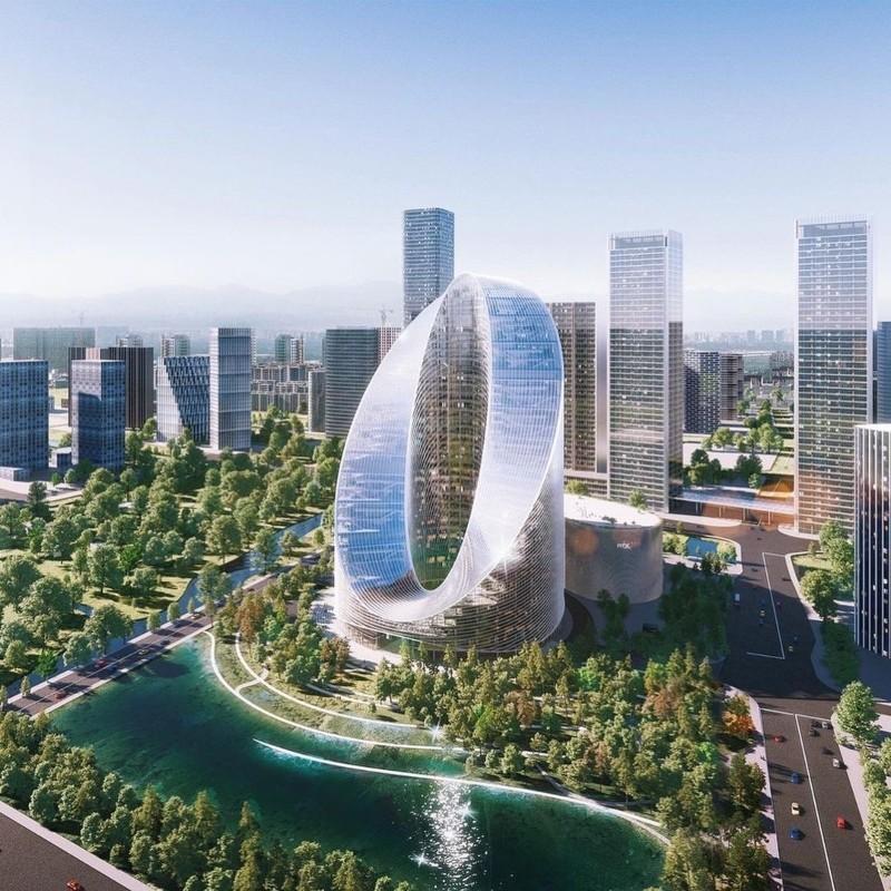 Όταν το branding εμπνέει την αρχιτεκτονική-Ουρανοξύστης σε σχήμα «Ο» σύντομα θα ενώνει τη γη με τον ουρανό