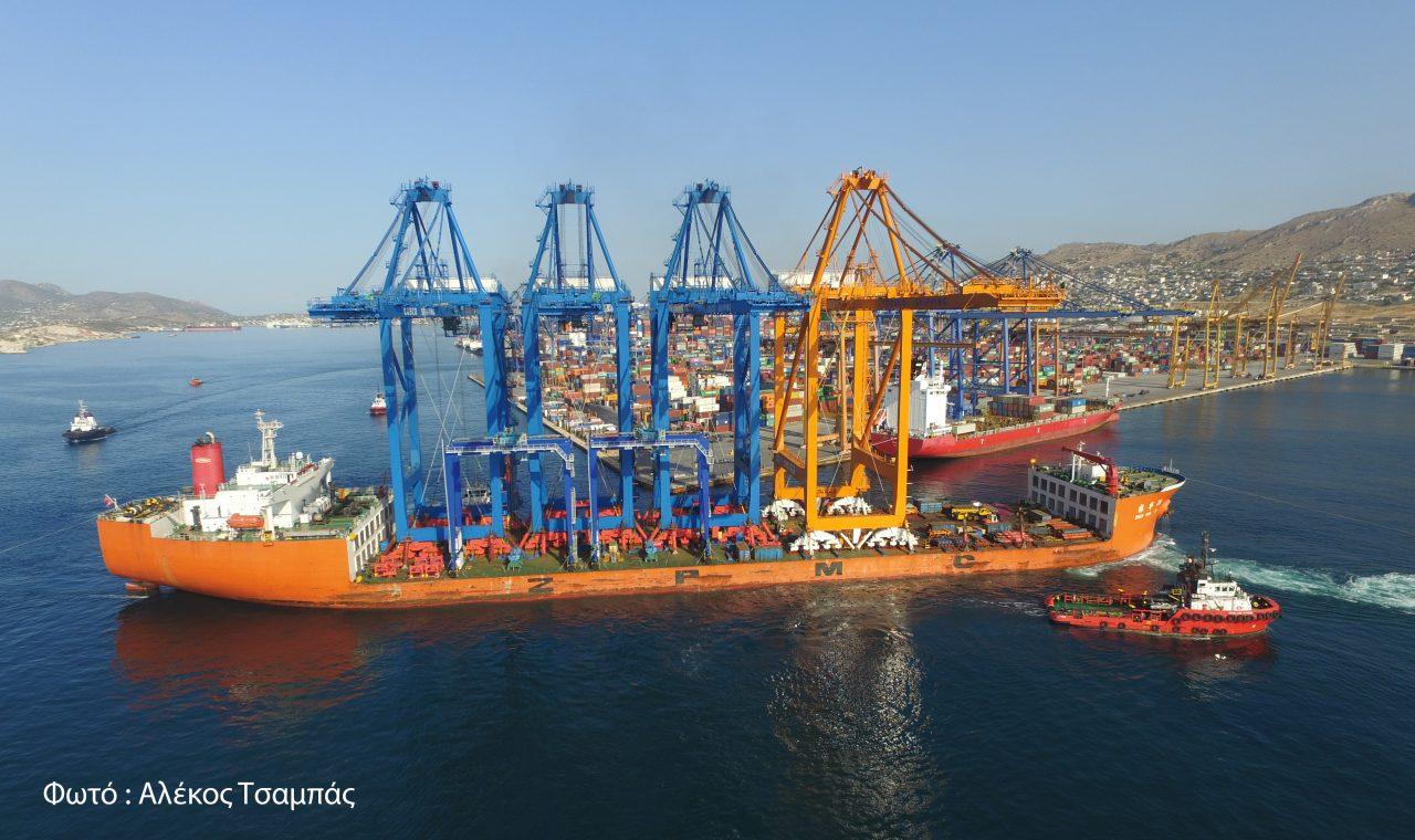 Στον Πειραιά η νέα Γερανογέφυρα Πλοίων Super Post Panamax