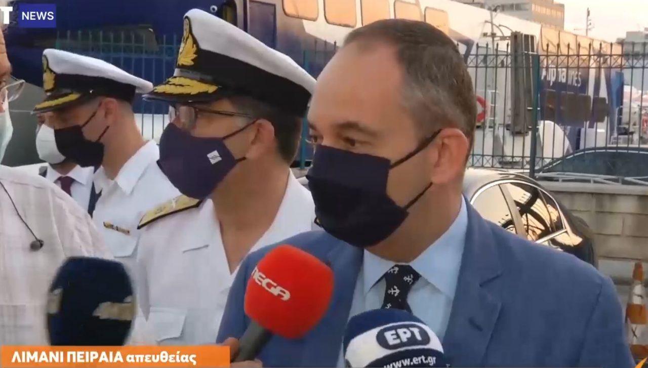 Αυτοψία Πλακιωτάκη στο Λιμάνι Πειραιά: Πάνω από 4.500 ταξιδιώτες δεν επετράπη να μπουν σε πλοία