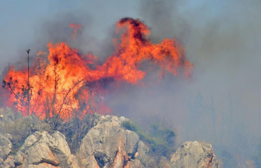 Αργολίδα: Σε εξέλιξη πυρκαγιά στο Αραχναίο Όρος
