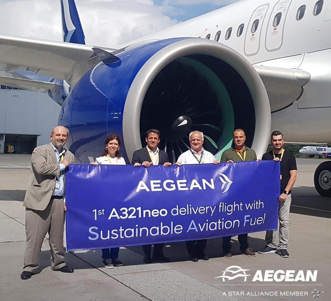 Άλλη μία πρωτιά για την AEGEAN: Πρώτη δοκιμαστική πτήση με βιώσιμα αεροπορικά καύσιμα στην Ελλάδα