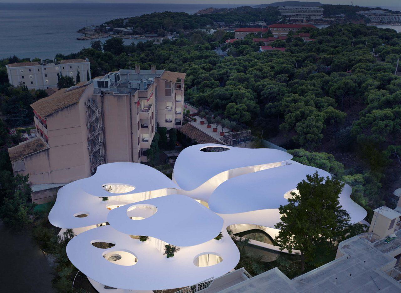 Ένα πρωτότυπο συγκρότημα κατοικιών σε σχήμα πεταλούδας στην Αθηναϊκή Ριβιέρα (pics & video)